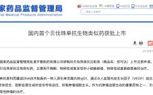 刚刚,国内首个贝伐珠单抗生物类似药获批上市!